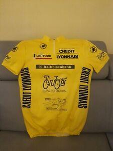 Maglia ciclismo Gialla Tour de France Castelli taglia grande 6