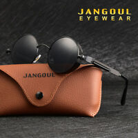 Vintage Polarized Steampunk Sunglasses Fashion Round Mirrored Retro Sunglasses 2