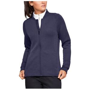 Under Armour Ladies Versa Full Zip Jacket UA Long Sleeve Golf Top Breathable