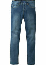 Men Stretch Jeans Skinny Fit Straight, 933529 in Blue Stone Used 38