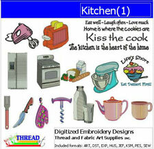 Embroidery Design CD - Kitchen(1) - 18 Designs - 9 Formats - Threadart