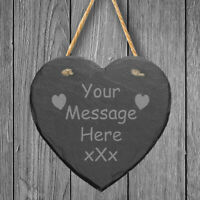 Personalised Laser Engraved Home Plaque Sign Slate Heart House Warming Gift
