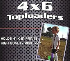 100 New 4X6 Rigid Topload Holder Photo Postcard Plus Free 4X6 Sleeves