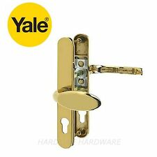 Genuine Yale Lever/Pad Offset 92/70mm PZ Security Door Handle Polished Gold