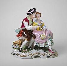 Porzellan Rokoko-Gruppe mit Vogel Kämmer H18cm 9944293