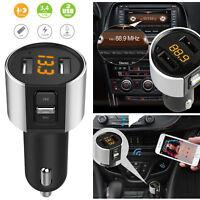 Wireless Bluetooth FM Transmitter Radio Adapter Car Kit USB Fast Charger