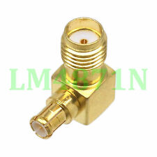 1pce Adapter 90° SMA female jack to MCX male connector right angle gold plating