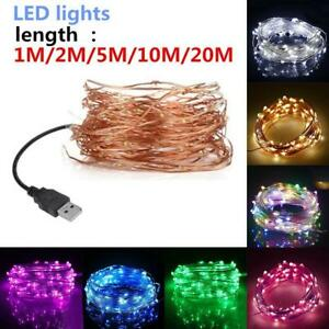 USB LED String Lights Outdoor Waterproof Fairy Garland Lamp Decor