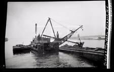 6/3/37 Dredge Ship Majestic Old Photo Negative 622B