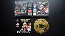 COUPE DU MONDE DE LA FIFA 2002 : JEU Sony PLAYSTATION PS1 PS2 (Football COMPLET)
