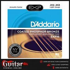 D'Addario EXP16 Coated Phosphor Bronze Acoustic Guitar Strings12-53 Daddario New