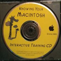 Knowing Your Macintosh Interactive Training CD Apple CD-Rom PC 1995 Disc Rare