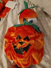 Halloween pet costume Dog, puffy Pumpkin w/hat, really funny & cute, New w/Tags!