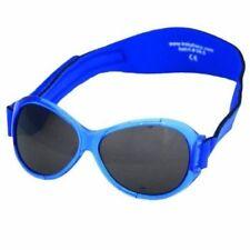 Baby Banz Retro Blue Sunglasses With Strap 0-2 Yrs 100 UVA UVB Lens Protection