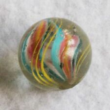 """Antique Glass Marble German Handmade Ribbon Core Marbles 3/4"""" Shooter NrMINT+"""