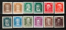 GERMANY Sc 351-62 NH ISSUE (#360 -40pf - LH) OF 1926 - FAMOUS PEOPLE. Sc $875