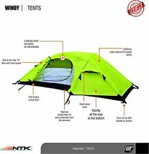 NTK Windy1 Man Dome Bivy Lightweight Tent, 8x5FT Outdoor Dome Backpacking Tent 1