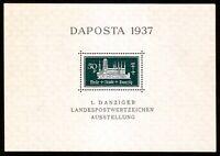 DR Danzig Nazi Reich Rare WW2 Stamp 1937 Castles Tower Church Daposta Classic SS