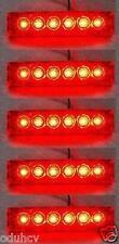 5 pièces 24V SMD LED ROUGE Arrière Feux de position pour DAF MAN VOLVO IVECO