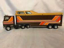 Vintage Ertl Semi Truck & Horse Trailer 1970-1980's