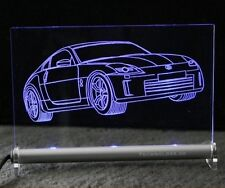 Nissan 350 Z  350Z als  AutoGravur auf LED-Leuchtschild