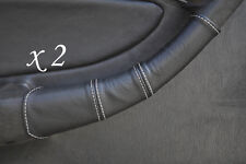 WHITE STITCH FITS TOYOTA CELICA GT4 T18 90-93 2X DOOR HANDLE LEATHER COVERS