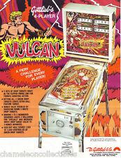 VULCAN By GOTTLIEB 1977 ORIGINAL FLIPPER PINBALL MACHINE PROMO SALES FLYER