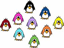 Lindo Pingüino adhesivos, pegatina, coche, portatil, pared #1