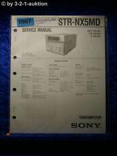 Sony Service Manual STR NX5MD Tuner Amplifier (#5967)