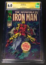 STAN LEE Autograph IRON MAN 1 1968 Signed Marvel Comics CGC 6.0 Authentic AUTO