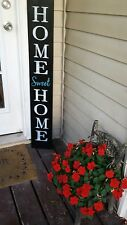 Large Rustic Wood Porch Sign Home Sweet Home  Primitive Distressed Turquoise