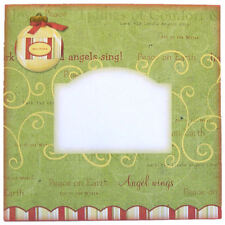 Pack of 5 Christmas Envelopes 6 x 6 Inches Square Bauble Motif Panel for Address