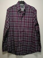 Wolsey Purple / Magenta / Pink Check Long Sleeve Cotton Shirt - Size S (281)