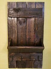 Rustic Entryway Key/ Mail Holder Wall Organizer. Walnut stain.13 1/4 × 24 1/2 w