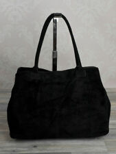 Ital femmes cuir sauvage Sac à main sac profond en bandoulière noir 624S