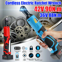 18/28/36V 60/85/88/90N.m 3/8'' Cordless Electric Ratchet Right Angle Wrench Tool