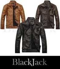 Mens genuine leather Motorcycle Biker Slim Fit Distressed Vintage leather Jacket