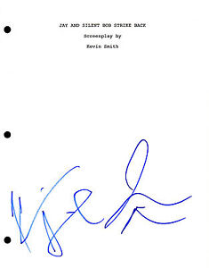 Jay and Silent Bob KEVIN SMITH & JASON MEWES Signed Full Movie Script AD1 COA