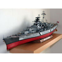 3D DIY World War II Germany Bismarck GPM182 Complete Version Paper Model