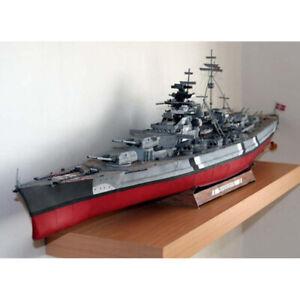 3D DIY World War II Germany Bismarck GPM182 Complete Version Paper MYUZ2