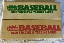 LOT OF (2) 1988-89 FLEER BASEBALL FACTORY SEALED TRADING CARDS AND STICKERS