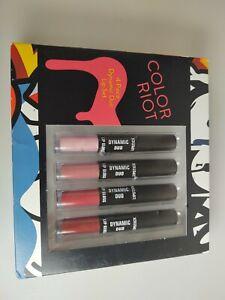 817016013715 Color Riot 4-Piece Dynamic Duo Lip Set