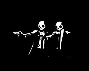 Pulp fiction  skull candy  Stickers skate graphic  Vinyl Decal Car Wall Massive