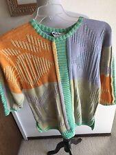 Vintage La Squadra Monte Carlo Pastel Cotton Sweater Size L XL