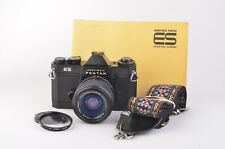 EXC++ PENTAX ES BLACK BODY w/FUJINON 43-75mm ZOOM, CLEAN GREAT WORKING CONDITION