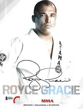 Royce Gracie Signed 8x10 Photo BAS Beckett COA Bellator UFC Promo Picture Auto 2