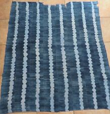 "Vintage African,Dogon Indigo Resist Dyed Fabric/Hand Woven Cotton Strips/45""x49"""