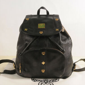 MCM Leather Backpack Authenticity + Dust Bag