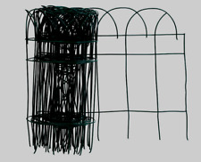 Panacea Green GARDEN FENCE EDGING Wire Scroll Arch Bed Walkway Border 20' x 14""