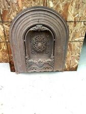 Antique Cast Iron Fireplace Insert 1870's cast in two pieces very ornate Rare